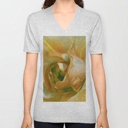 Floribunda Rose - Sun Bright Yellow Unisex V-Neck