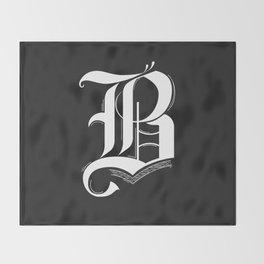 Letter B Throw Blanket