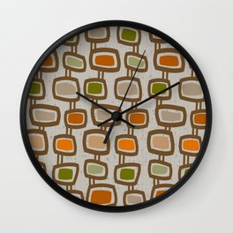 Dangling Rectangles Mid-Century Wall Clock