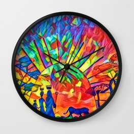 I dream of a new world named Africa. Wall Clock