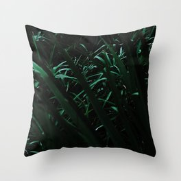 Grass blades basking in the sun - Abstract Throw Pillow