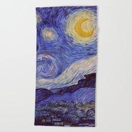 Vincent Van Gogh Starry Night Beach Towel