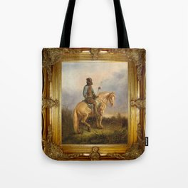 Framed Chief Pachycephalosaurus Tote Bag