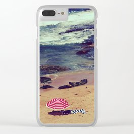 Retro style hot of Avalon beach Clear iPhone Case