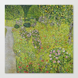 "Gustav Klimt ""Orchard with Roses (Obstgarten mit Rosen)"" Canvas Print"