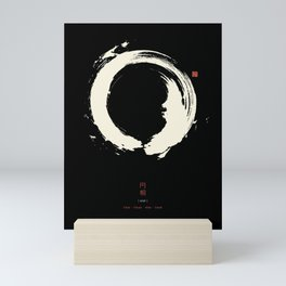 Black Enso / Japanese Zen Circle Mini Art Print