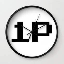 Player One 1P Wall Clock