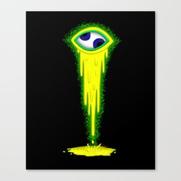 The Crazy Eye - Yellow Canvas Print