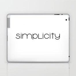 simplicity (black) minimal T-shirt Laptop & iPad Skin