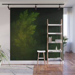 Beautiful Fractal Pines in the Misty Spring Night Wall Mural