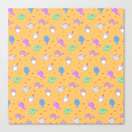 Narwhal and friends Canvas Print