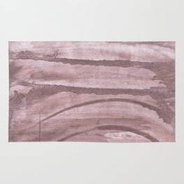 Rosy brown colored watercolor design Rug