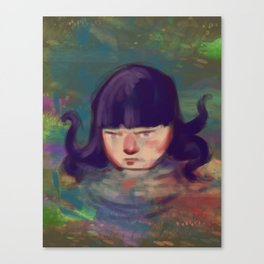 Sarah and Mill pond Canvas Print