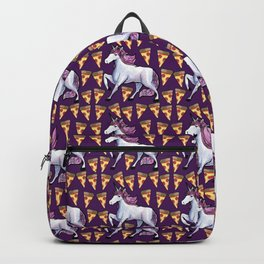 UNICORN PIZZA PATTERN PARTY Backpack