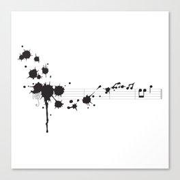 Splatter in D Minor Canvas Print
