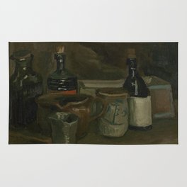 Still Life with Bottles and Earthenware Rug