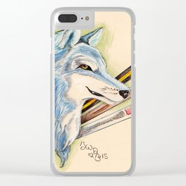 Blue dog Clear iPhone Case