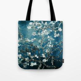 Van Gogh Almond Blossoms : Dark Teal Tote Bag