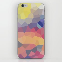 Pastel Geometric Moon Rise iPhone Skin