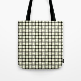 Small Light Yellow Weave Tote Bag