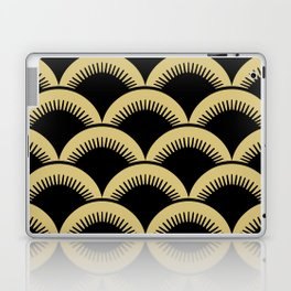 Japanese Fish scales Black and Gold Laptop & iPad Skin