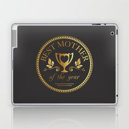 Mother's day golden trophy Laptop & iPad Skin