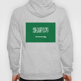 National flag of  the Kingdom of Saudi Arabia - Authentic version to scale and color Hoody
