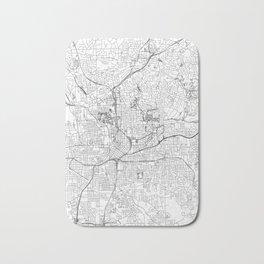 Atlanta White Map Bath Mat