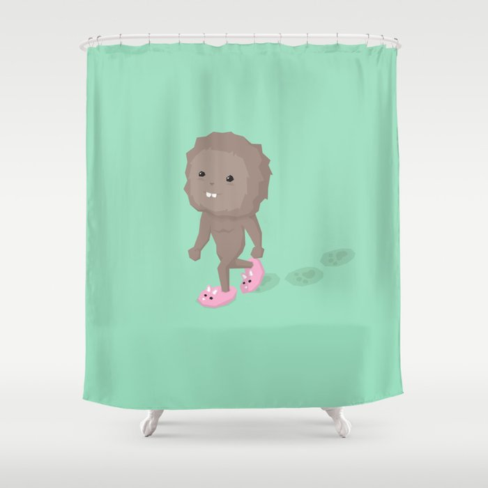 Accidental Legends: Bigfoot Shower Curtain