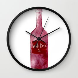 Santa Rosa, CA - Wine Country Love Wall Clock