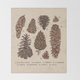 Pinecones Throw Blanket