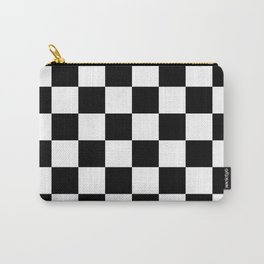 Black & White Checkered Pattern Carry-All Pouch