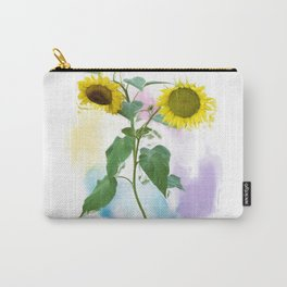 Digital painting of Two Sunflowers Carry-All Pouch