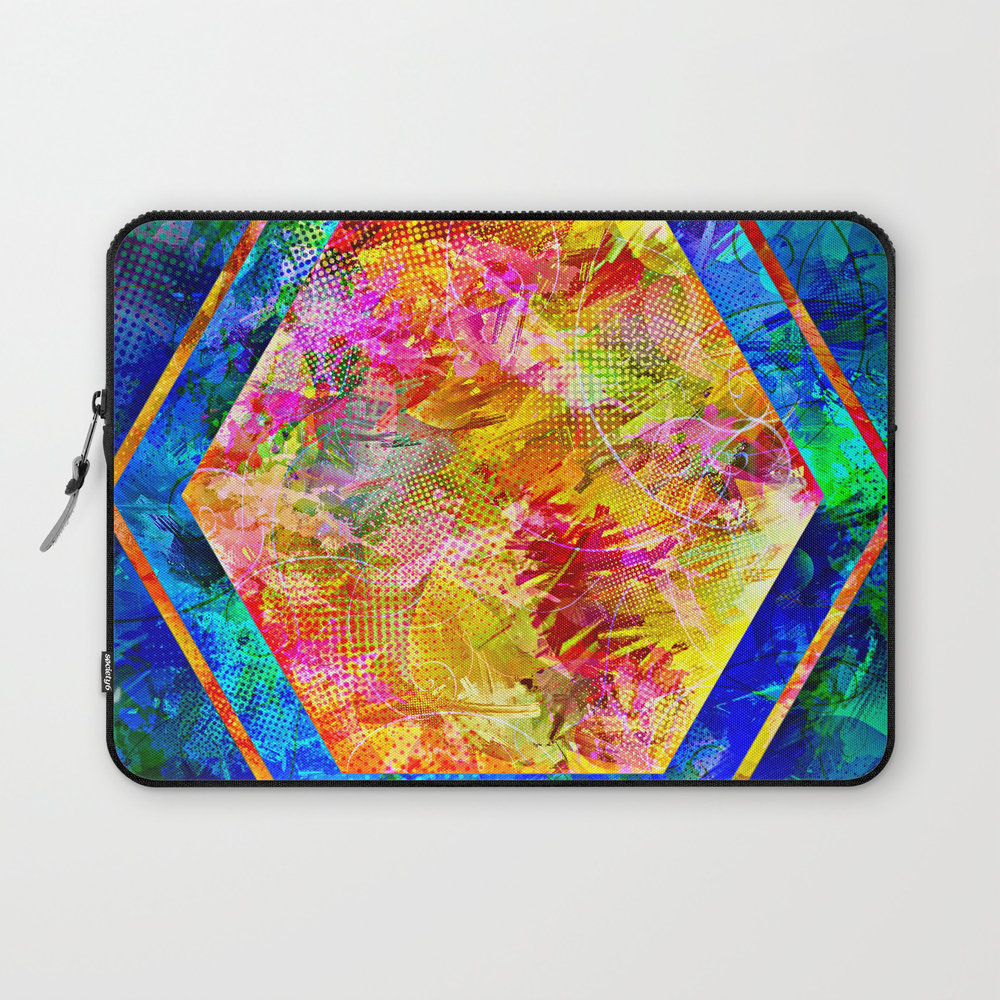 Hexagon In Complementary Colors Laptop Sleeve LSV9003343
