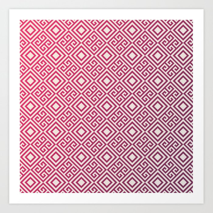 Magenda Geometric Pattern Art Print