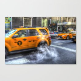 New York Taxis Canvas Print