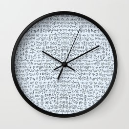 Doodling Letterius Wall Clock