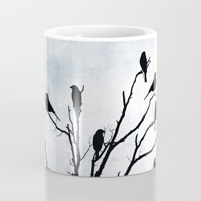 Blackbirds Tree Modern Cottage Chic Farmhouse Home Decor A503 Coffee Mug
