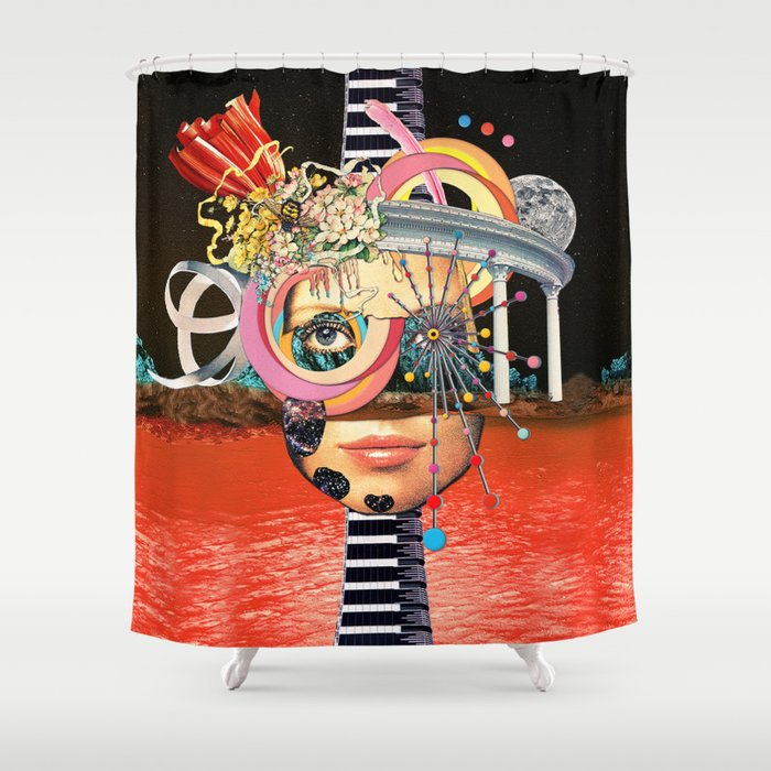 All About Perspective Shower Curtain
