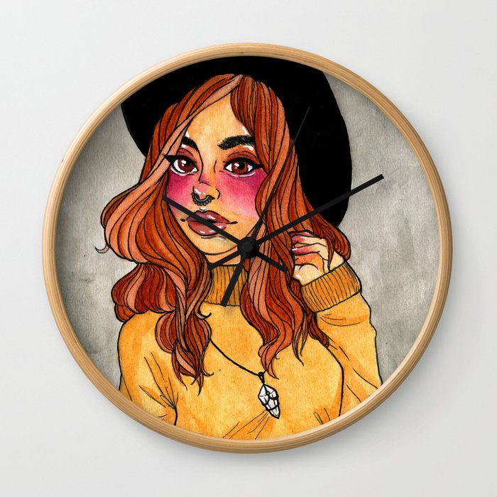 Fall Witch Wall Clock