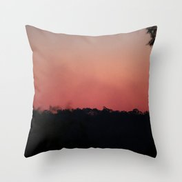 Smoke Haze Throw Pillow