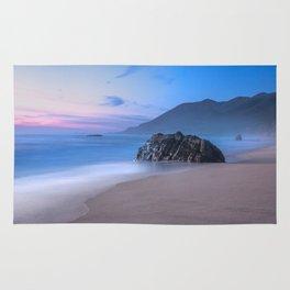 Ocean Tides - Mist Rolls in At Sunset in Big Sur Rug