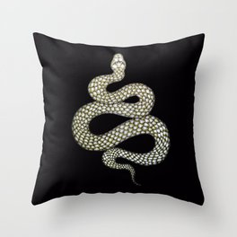 Snake's Charm in Black Throw Pillow