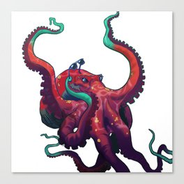 Sweet shades, mister octopus. Canvas Print