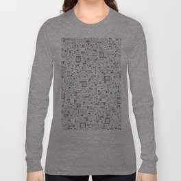 All Tech Line / Highly detailed computer circuit board pattern Long Sleeve T-shirt