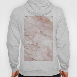Pink marble - rose gold accents Hoody