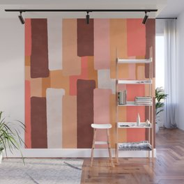 Line In Coral #society6 #abstractart Wall Mural