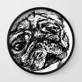 Sketchy Pug Wall Clock