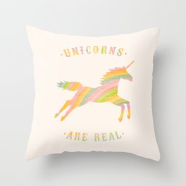 Unicorns Are Real Throw Pillow