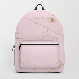 Luxe gold and blush marble image Backpack